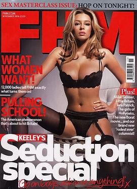FHM Nov 2006 Seduction Issue, Keeley Hazell, Tammin Sursok, Jenny McCarthy