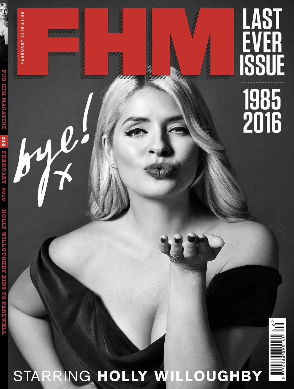 Holly Willoughby FHM magazine cover last issue 2016
