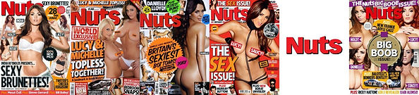 Find rare old issues of Nuts magazine UK