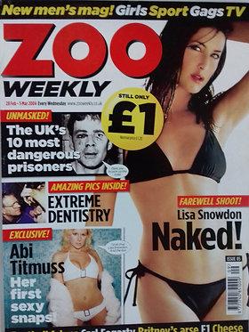 Zoo 28 Feb - 5 March 2004 #05 - Lisa Snowdon, Abi Titmuss