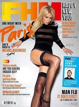 FHM Feb 2012 Alexandra Breckenridge American Horror Story, Paris Hilton