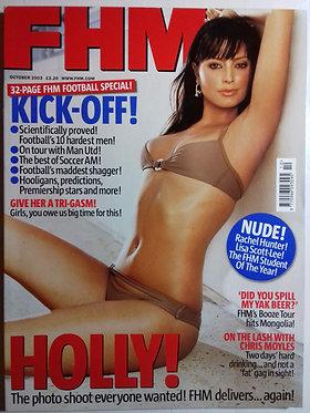 FHM Oct 2003 #166 - Holly Valance, Rachel Hunter, Lisa Scott-Lee
