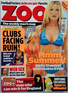 Zoo 14-20 May 2004 - Issue 16, Caprice, Dirty Den, Louise Redknapp