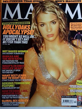 Maxim Nov 2004 - Hollyoaks, Gemma Atkinson, Ali Bastian, Jodi Dart