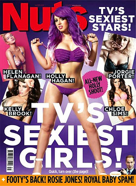 Nuts 2-8 Aug 2013 Holly Hagan Sexiest Stars Rosie Jones Nicole Neal
