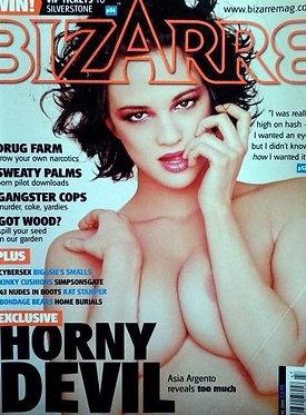 Bizarre 47 June 2001 Asia Argento Completely Naked Full Frontal, Dennis Lehane