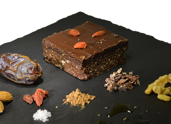 Raw Salted Caramel Brownies Tray