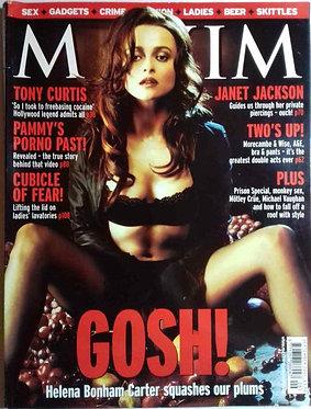 Maxim Sept 2001 Victoria Silvstedt, Helena Bonham Carter, Janet Jackson