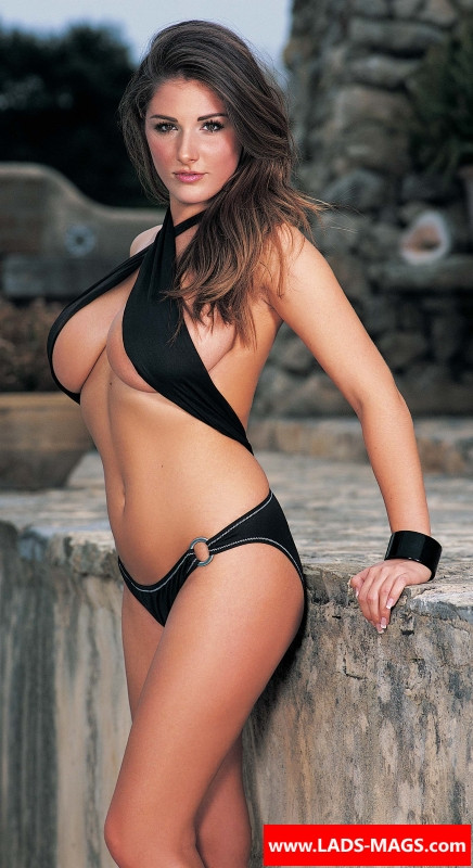 An early Page 3 picture of model Lucy Pinder