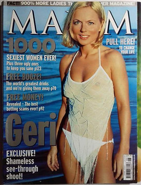 MAXIM June 2001 Geri Halliwell, Jane Wogan, Dom Jolly