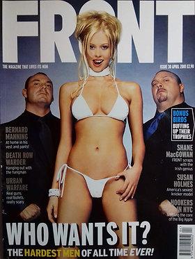 Front April 2001 Issue 30 - Susan Holmes, Jenna Jameson, Antoine de Caunes