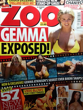 Zoo 24-30 Aug 2007 Vikki Blows Naked, Amii Grove, Gemma Atkinson, Nikki Smith