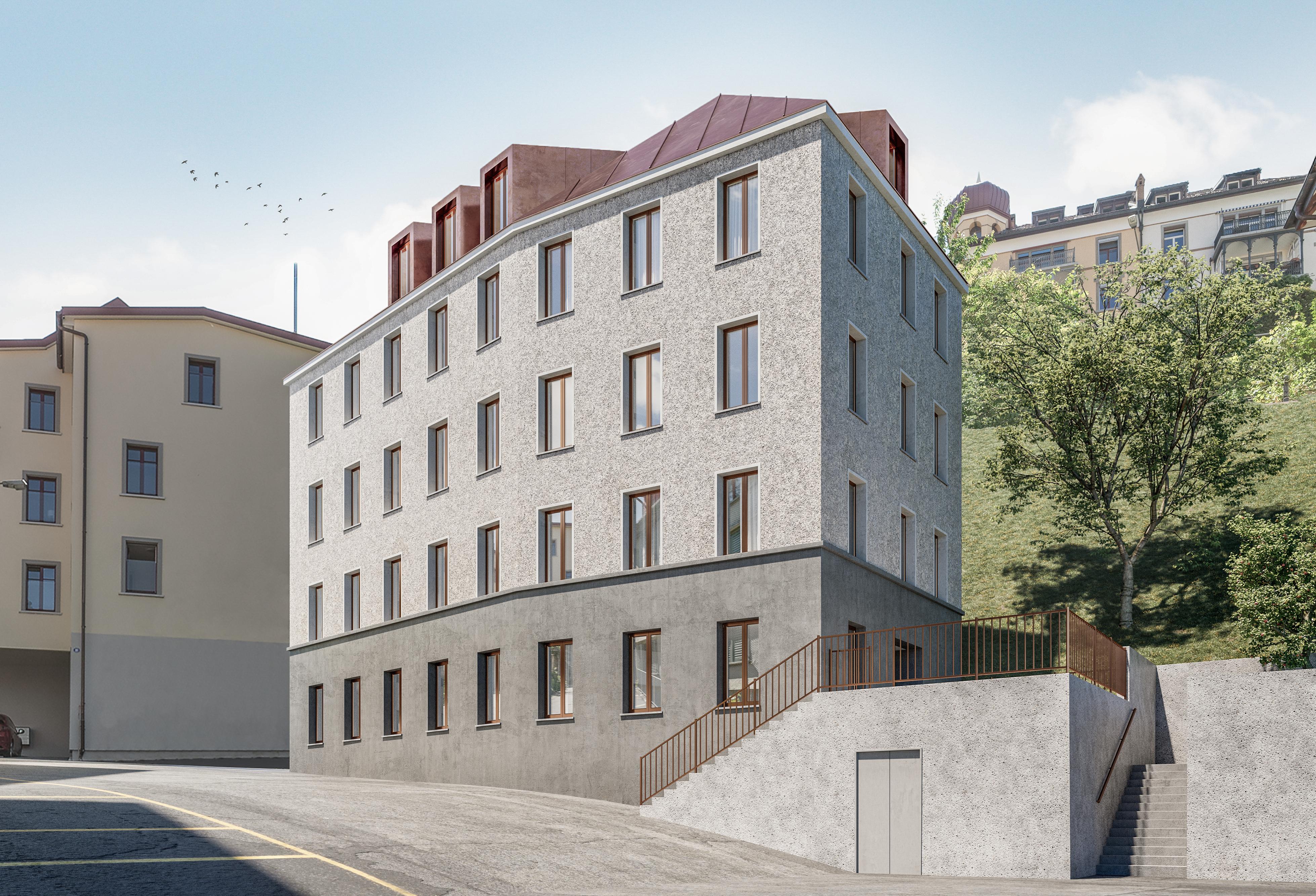 Neubau MFH, 17 Kleinwohnunge