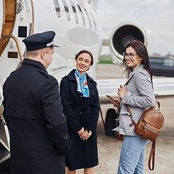 Happy Customer Boarding Plane