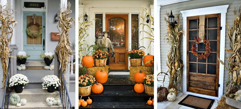 Home Entry Fall Decorating Options