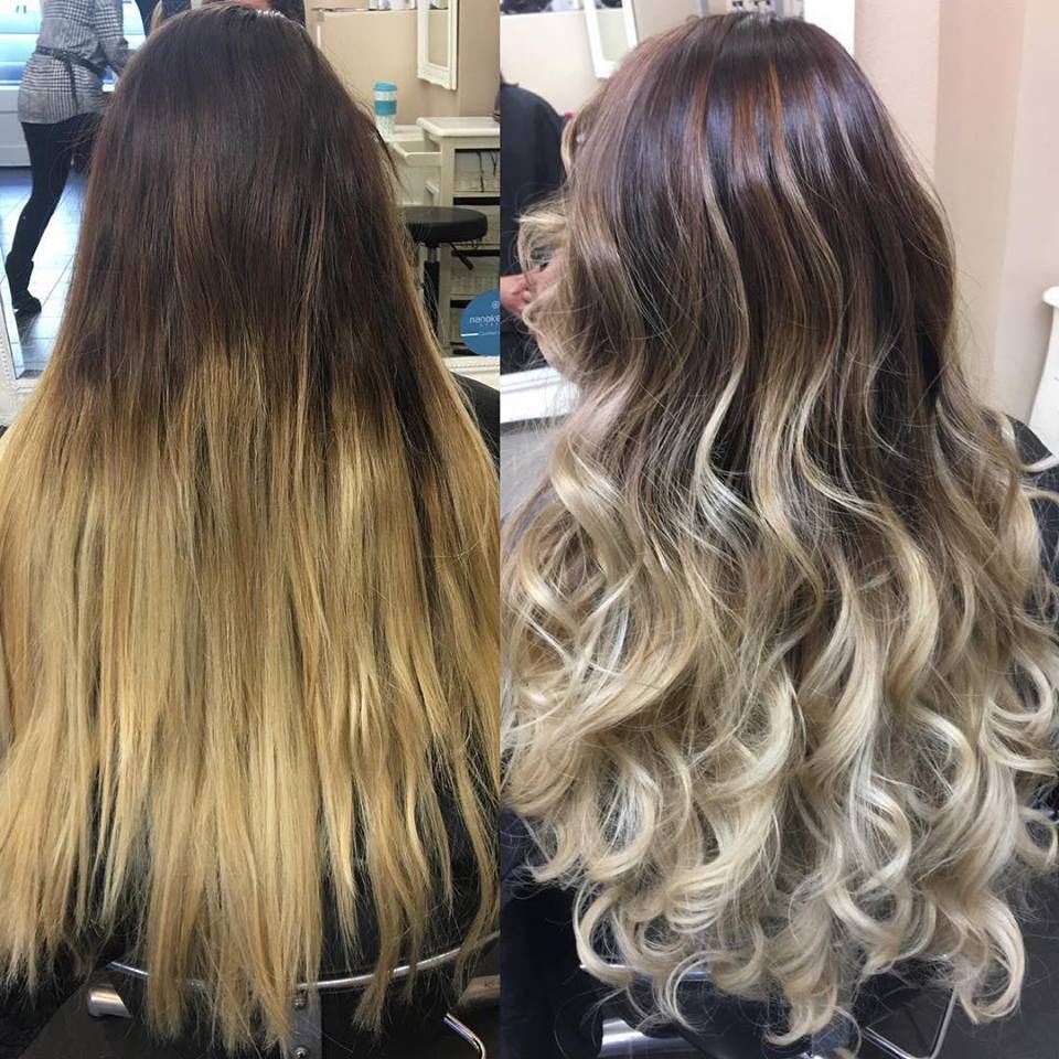Balyage hair colour