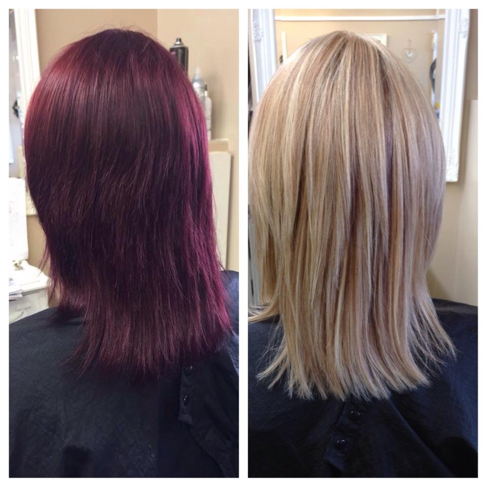 Olaplex colour change