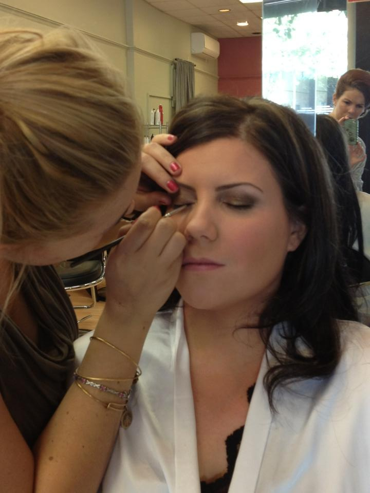 Getting glamorous for the big day!