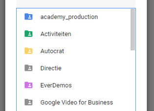 Maak shortcuts in Google Drive