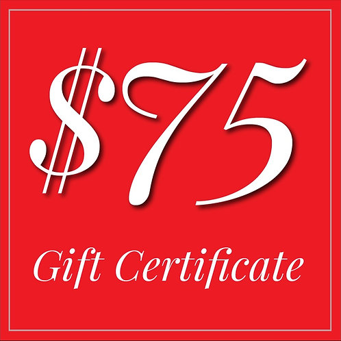 GORGE EATERY $75 GIFT CERTIFICATE