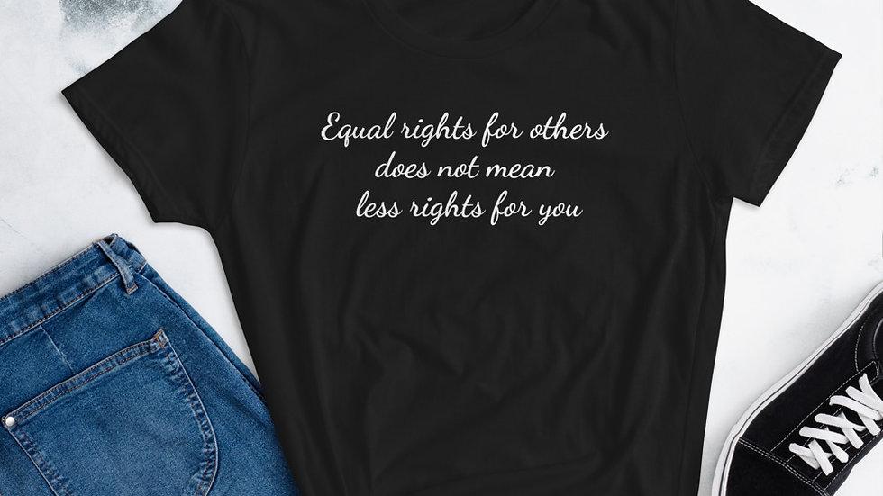Equal rights women's short sleeve t-shirt