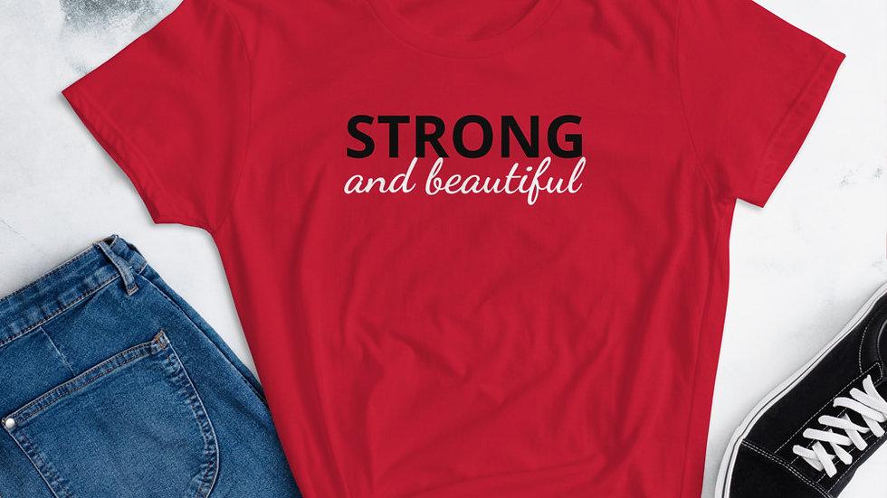 Strong and beautiful Women's short sleeve t-shirt