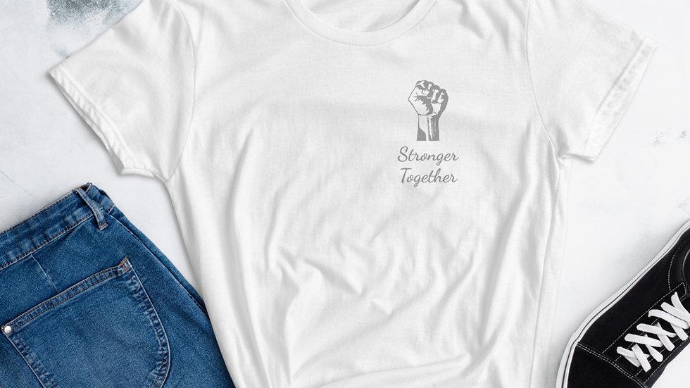 Stronger Together short sleeve women's t-shirt