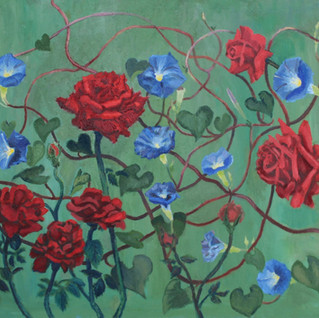 Roses and Morning Glories-Vera Smith -.J
