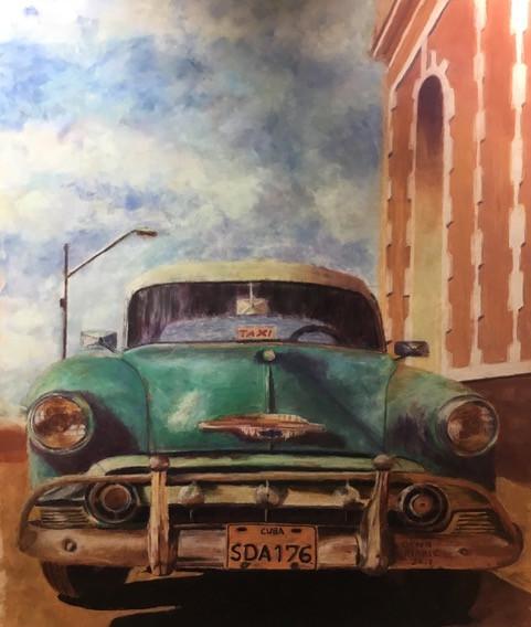 Cuban Chevy_28x25_pastel_Dawn Marie Rae.