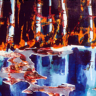 Aspen On Ice Acrylic Collage 28X36.jpg