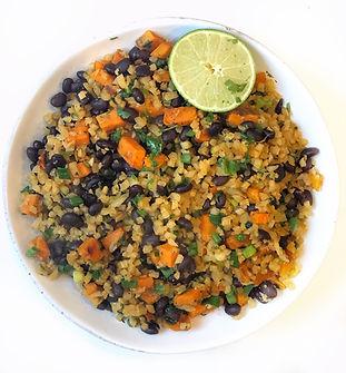 Mexican Sweet Potato Cauli Rice