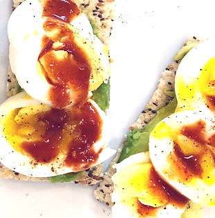 Soft Boiled Eggs with Toppings