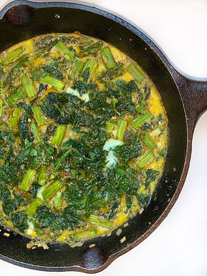 Breakfast Meal Prep Frittata Eggs  Asparagus Kale