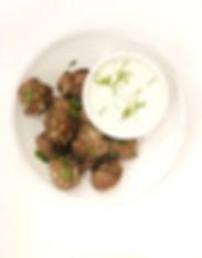 Greek Meatballs with Tzatziki Sauce