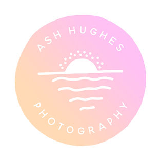Ash Hughes Photography Logo pink orange