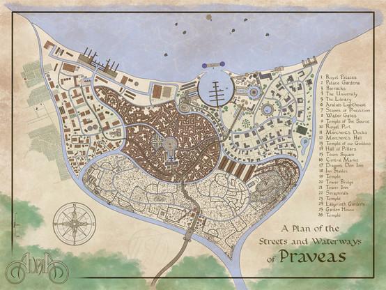 Praveas City Map