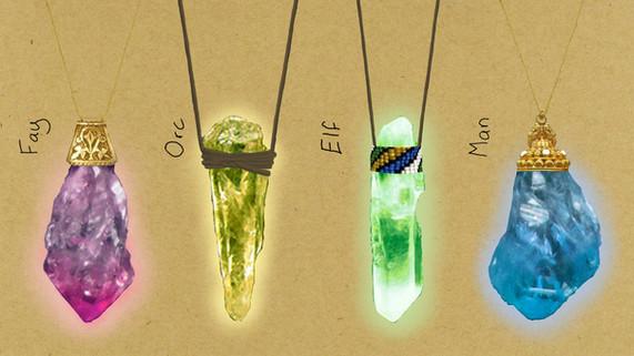 Race Crystal Pendants