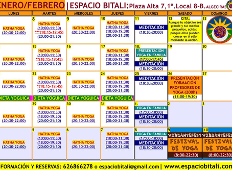 PROGRAMA DE ACTIVIDADES ENERO 2019   ESPACIO BITALI