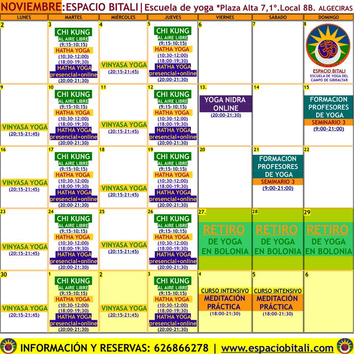 Clases de yoga | Meditación | Espacio Bitali Yoga | Algeciras