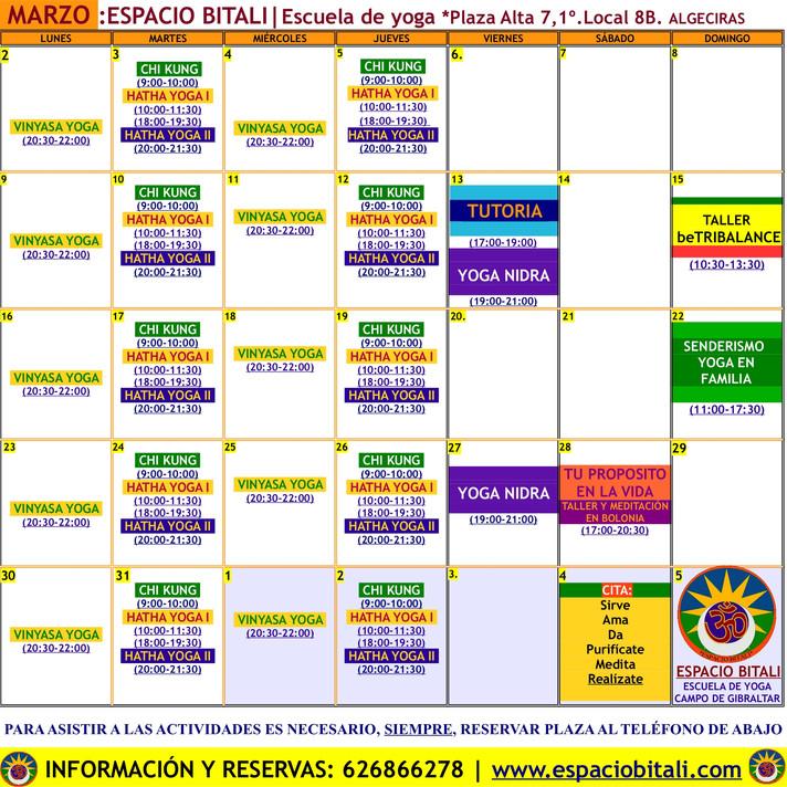 Programa de Actividades Marzo | Espacio Bitali | Algeciras