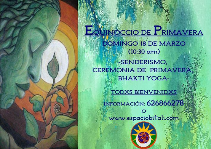 CELEBRACION EQUINOCCIO DE PRIMAVERA | DOMINGO 18 DE MARZO