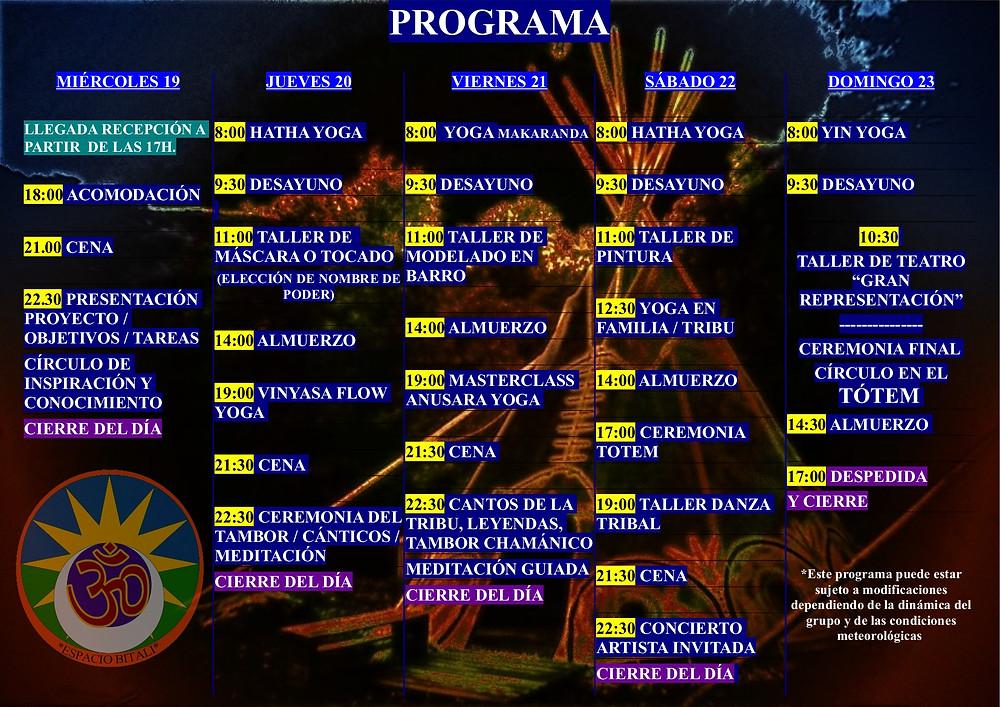 Programa del Campamento