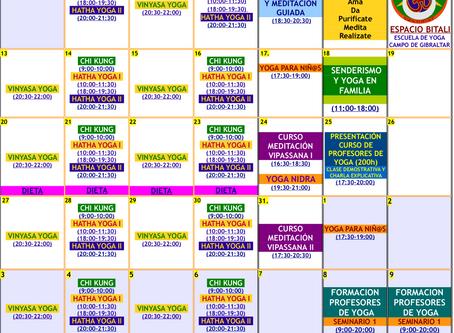 Programa de Actividades Enero | Espacio Bitali | Algeciras