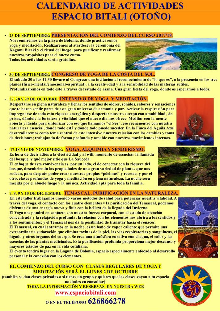 Programa Actividades Otoño   Espacio Bitali