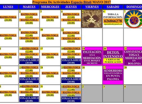 PROGRAMA DE ACTIVIDADES DE MAYO ESPACIO BITALI