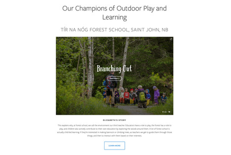 Forest School web story