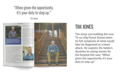 Tim Jones Cover story GiveHealth Magazine Fall 2020