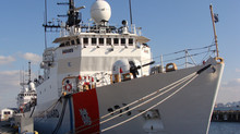 Story that smugglers shackled to the deck for months out in the elements by US Coast Guard strains c