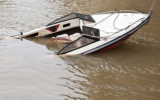 Sunken pleasure boat