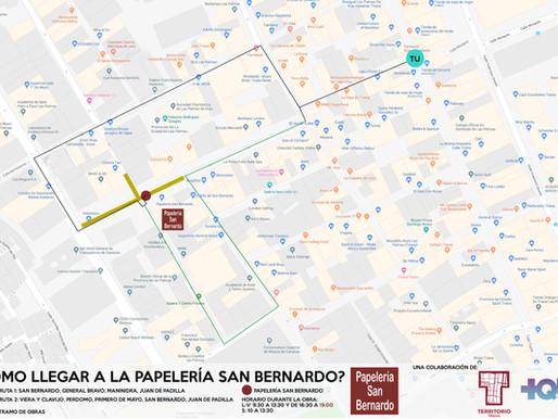 Como llegar a la Papelería San Bernardo